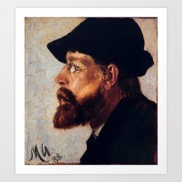 Nils Hansteen by Michael Ancher, 1888. Art Print
