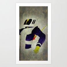 Space Man - Death of an Astronaut  Art Print