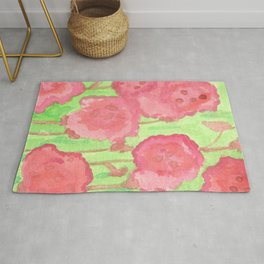 Red Roses Abstract Rug