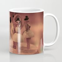 ballerina Mugs featuring ballerina by Momo Production