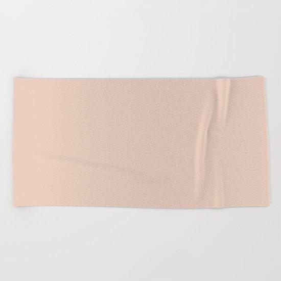 Solid Vintage Rose Pink Beach Towel
