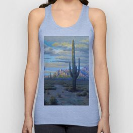 Superstition Mountains and Desert Landscape by John Marshall Gamble Unisex Tank Top