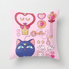 Small Lady Starter Kit  Throw Pillow