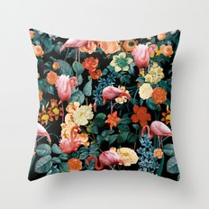 Floral and Flemingo II Pattern Throw Pillow