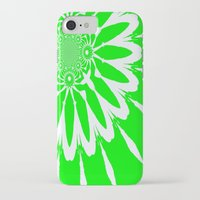 lime green iPhone & iPod Cases featuring Lime Green Modern Flower by 2sweet4words Designs
