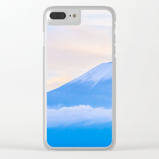 pastel mountain #sky Clear iPhone Case