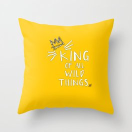 King of All Wild Things - Max Throw Pillow