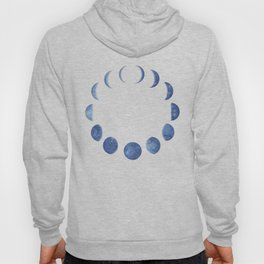 Blue Moon Phases | Watercolor Painting Hoody