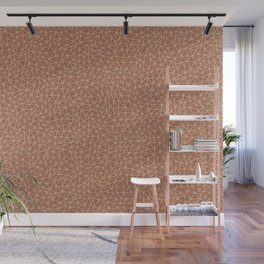 Sherwin Williams Ligonier Tan SW 7717 Abstract Multi Sized Triangle Shape Pattern on Cavern Clay Wall Mural