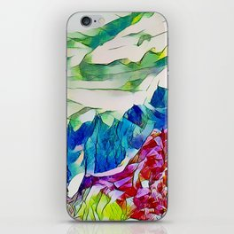 Crystal Summer Mountains iPhone Skin