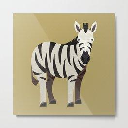 Whimsy Zebra Metal Print