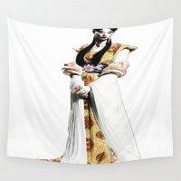 geisha Wall Tapestries featuring Geisha by arnedayan