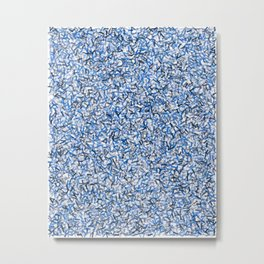 Blue Arrows Pattern Metal Print