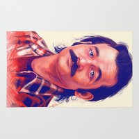 boyfriend Area & Throw Rugs featuring Young Mr. Bill Murray by Thubakabra