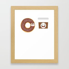 Bestfriends Donut Love Food Gift T-Shirt Framed Art Print