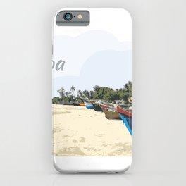 Goa Beach Fishing Boats iPhone Case