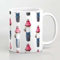 patriotic Mugs featuring Patriotic Hydrant by Cwilwol