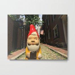 Gnome on Acorn Street in Beacon Hill, Boston, Massachusetts Metal Print