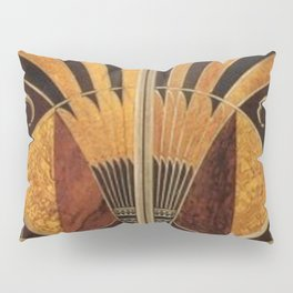 art deco wood Pillow Sham