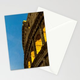 Sunset Over The Roman Colosseum. Stationery Cards