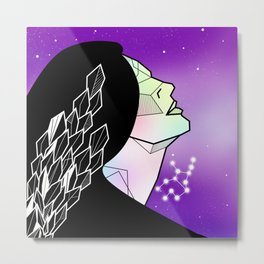 Virgo zodiac star sign Metal Print