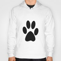 furry Hoodies featuring Furry Paw by Red Tree Arts