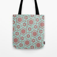 hexagon Tote Bags featuring Hexagon by Jerod Barker