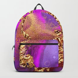 Gold Star Dust Wrapped in Blue, Purple and Pink Abstract Backpack