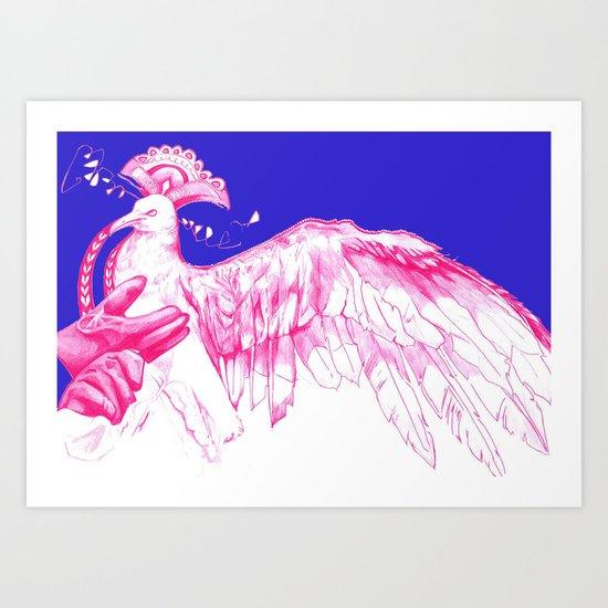 Like Soaring Thru the Heavens in Magenta Art Print
