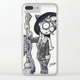 The Turbo Witch Clear iPhone Case