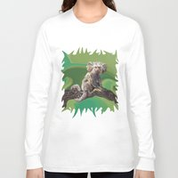psychadelic Long Sleeve T-shirts featuring Melanie's Marmoset by Distortion Art