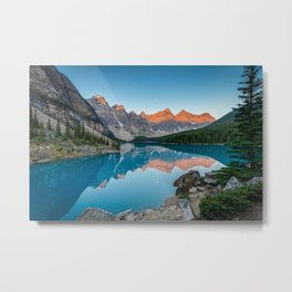 Moraine Lake Sunrise Banff National Park Canadian Rockies Canada Mountains Landscape Metal Print