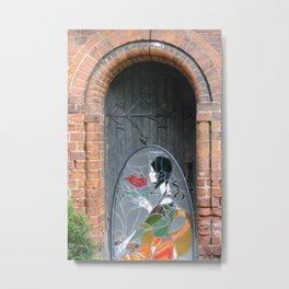 Lady in the Doorway : Art Deco Metal Print