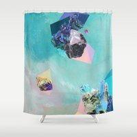 mineral Shower Curtains featuring Mineral Leo by Sara Cannon Art