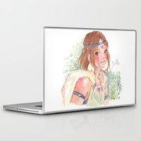 princess mononoke Laptop & iPad Skins featuring Princess Mononoke by Ékara