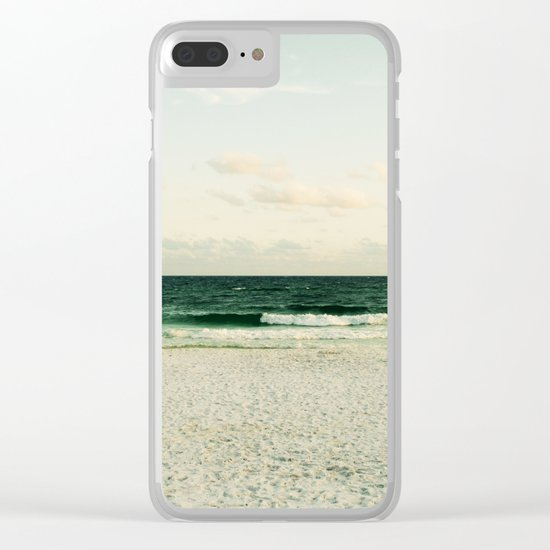 Lonely Wave Clear iPhone Case