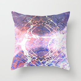 Abstract Ripple Reflection Throw Pillow