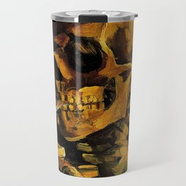 Van Gogh, Skull of a Skeleton with Burning Cigarette  – Van Gogh,Vincent Van Gogh,impressionist,post Travel Mug