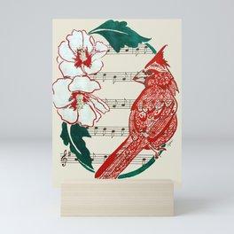 The Birds Chorus  ( Cardinal and Rose of Sharon) Mini Art Print