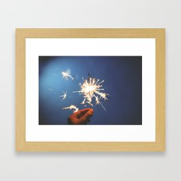 Sparkler (Fourth of July) Framed Art Print