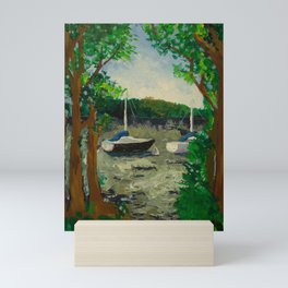 Lake Landscape Mini Art Print