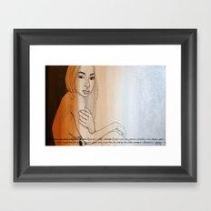 Will not wait Framed Art Print