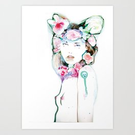Blossoming whispers Art Print