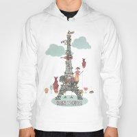 eiffel tower Hoodies featuring Eiffel Tower by ShangheeShin