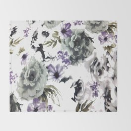 Kwan Yin Roses Throw Blanket