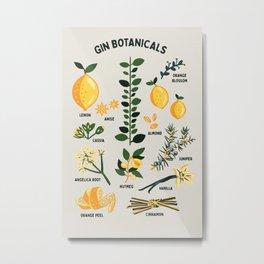 Gin Botanicals - Lemon, Orange, Cinnamon, Almond, Vanilla, Juniper & More Metal Print