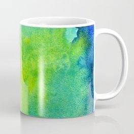 Abstract Watercolor Texture Blue Green Emerald Coffee Mug