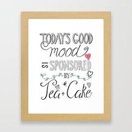 Tea & Cake Framed Art Print