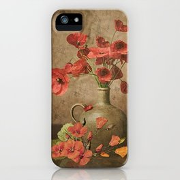 Sweet Paprika Poppies iPhone Case
