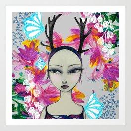 Fawn Woodland Gal Art Print